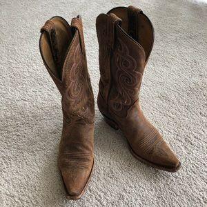 🐎🍁Tony Lama distressed leather cowboy boots 🤠